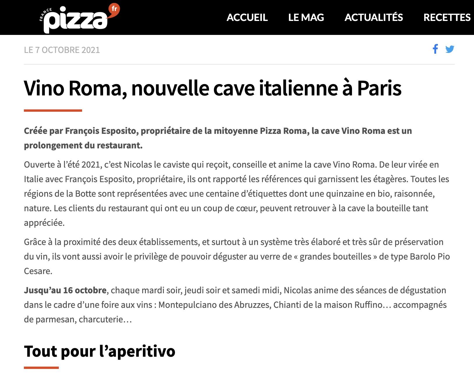 Vino Roma article